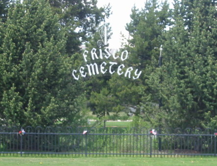 Frisco Cemetery gate