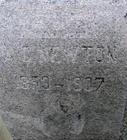 Inscription before wet